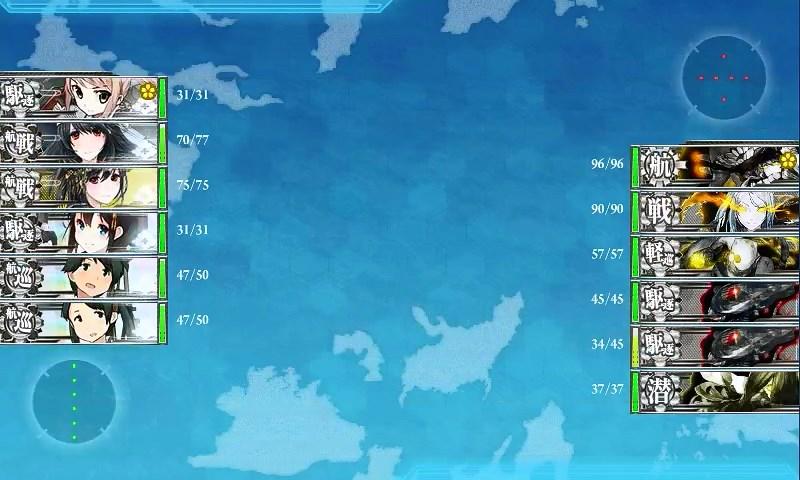 西村艦隊南方出撃任務:ボス艦隊砲撃戦開始