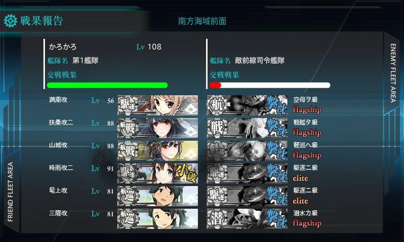 西村艦隊南方出撃任務:ボス艦隊戦S勝利!