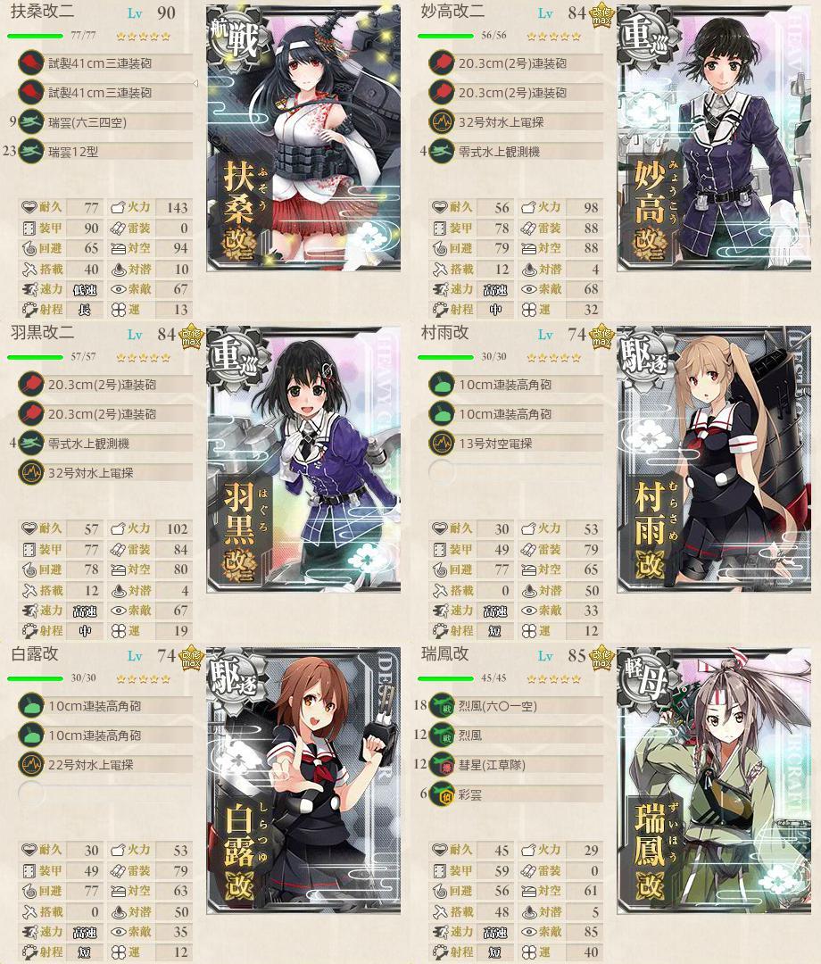 イベント海域1:水上艦隊編成